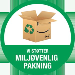 Kontorstol pakket i miljøvenlig materialer