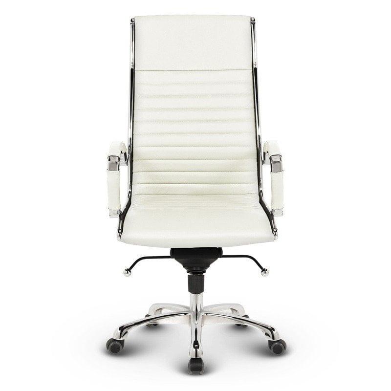 Milano kontorstol - Hvidt læder 1