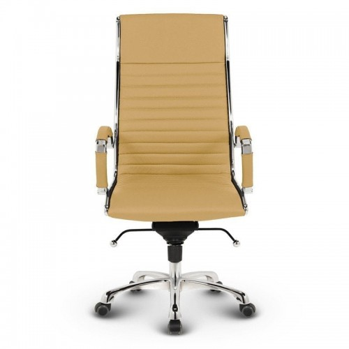 Milano kontorstol - Okker læder 1