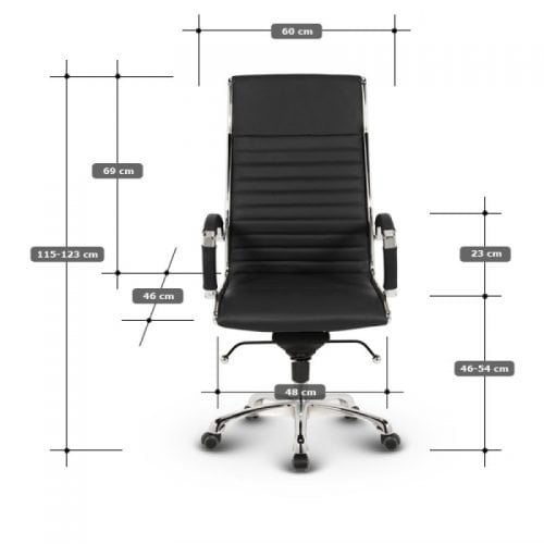 Milano kontorstol - Okker læder