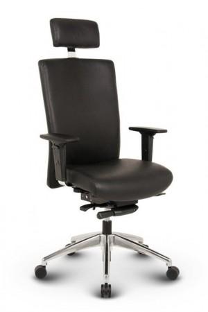 Ergonomisk kontorstol - Ergo sort læder kontorstole