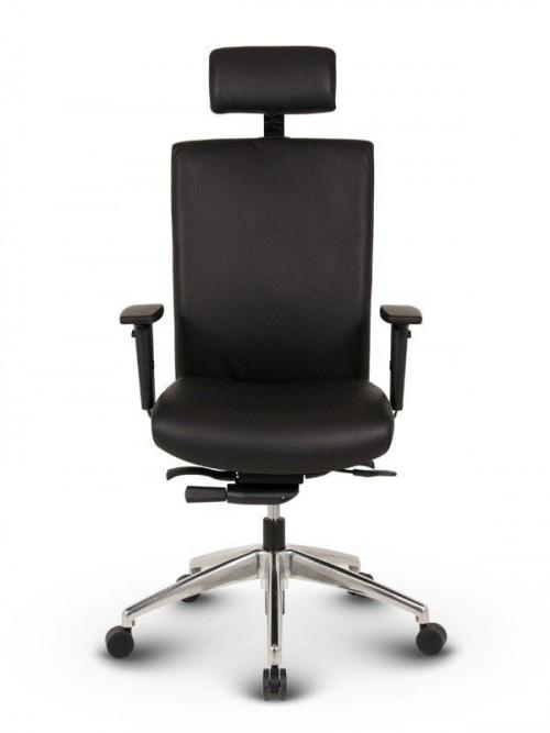 Ergonomisk kontorstol - Ergo sort læder kontorstole 1
