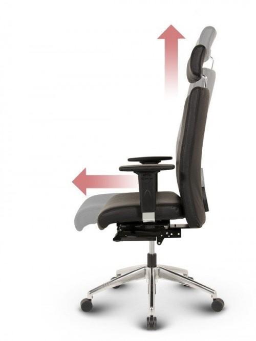 Ergonomisk kontorstol - Ergo sort læder kontorstole 2