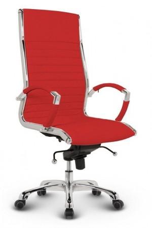 Milano kontorstol - Rød læder