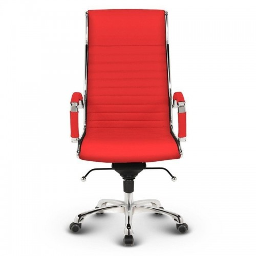 Milano kontorstol - Rød læder 1