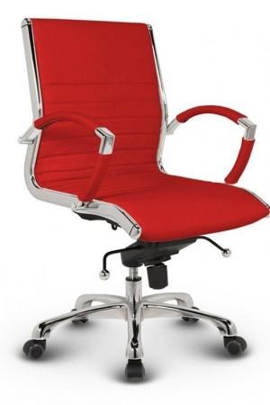 Milano kontorstol lav i rød læder