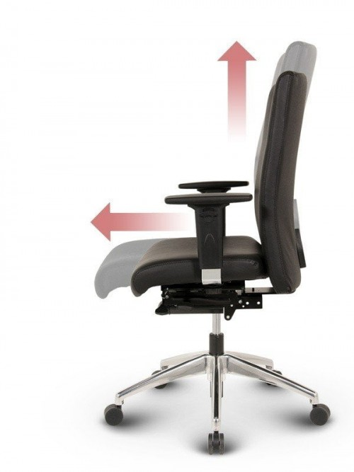 Ergo-Tec - Medium ergonomisk kontorstol læder