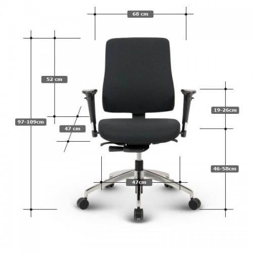 Robin kontorstol og mål