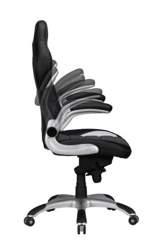 Xcko gamerstol sort/hvid med on/off armlæne - Høj ryg