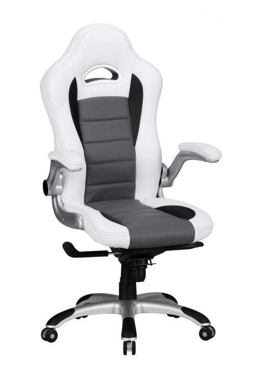 Xcko gamerstol hvid/sort med on/off armlæne - Høj ryg